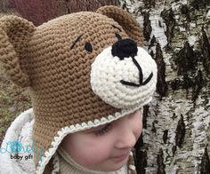 Crochet Animal Hats, Hat Crochet, Crochet Stitches, Crochet Hooks, Crochet Patterns, Baby Winter Hats, Baby Hats, Sport Weight Yarn, Single Crochet Stitch