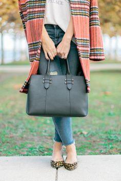 GiGi New York | Southern Meets Chic Fashion Blog | Black Parker Satchel