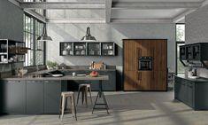 7 Home Warehouse Kitchen Design Ideas Kitchen Wall Colors, Home Decor Kitchen, Kitchen Furniture, Kitchen Cabinet Design, Kitchen Cabinets, Kitchen Walls, Warehouse Kitchen, Home Goods Decor, Kitchen Models