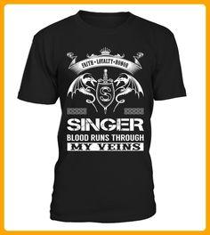 SINGER Blood Runs Through My Veins - Shirts für singles (*Partner-Link)