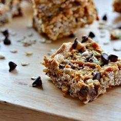 Peanut butter banana oat bars by Baking-Joy