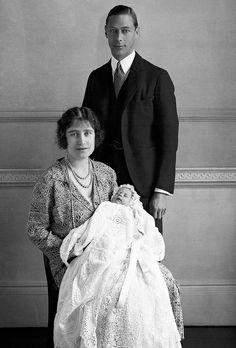 British Royal Family - Duke & Duchess of York and Princess Elizabeth - Buckingham Palace - 1926