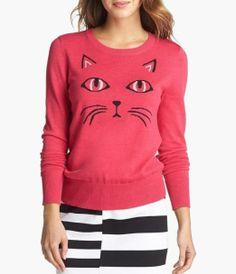 Meow! Fun kitty cat sweater.