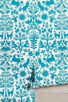 Emily Isabella for Hygge & West Folkloric Forest Wallpaper #anthroregistry