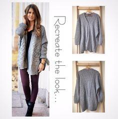 Size 12-14: Grey Cable knit cardigan $20AU