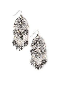 Beaded Dreamcatcher Earrings | Forever 21 | They have some of the cutest and most reasonably priced jewelry around.