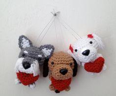 Custom Amigurumi with a heart Crochet Puppy Handmade by Inugurumi, $38.00