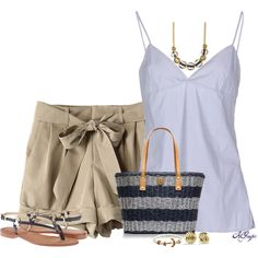 """Summer Beach Style"" by kginger on Polyvore"