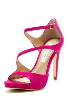 Love a pink sandal, especially this asymmetrical strappy pair from DVF