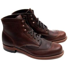 Wolverine Addison 1000 Mile Wingtip Boots - Brown - Made in USA