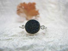 Ring Silber Achat blau von Querbeads Atelier auf DaWanda.com #jewelry, #Achatring, #pascalpinther