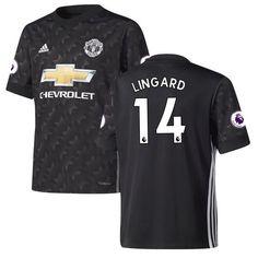 Jesse Lingard Manchester United adidas Youth 2017/18 Away Replica Jersey - Black - $94.99