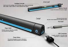 The Pen Printer is a clever solution for extending the life of the everyday pen.