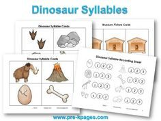 Printable Dinosaur Syllable Activity for #preschool #kindergarten