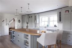 Manor House Gray kitchen cabinets