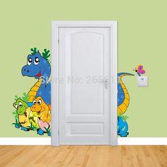Lovely Dinosaur Wall Stickers Baby Room Creative Cartoon Decals Nursery Decoration