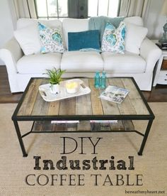 8 Trendy DIY Industrial Coffee Tables - DIY   Do it by my self