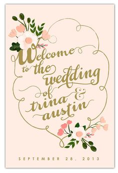 Wedding Welcome Sign  20 x 30 Blush and Gold by firstsnowfall, $125.00... man I really would love this at the entrance to the reception!
