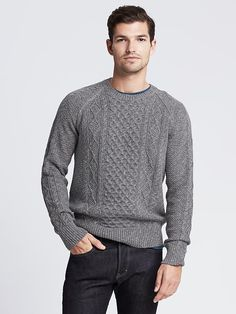 Sweater · Men SweaterSweater SaleSweatersMen's FashionHandsomeSimpleCable  KnitBanana ...