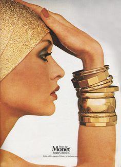 November 1977. 'In the golden manner of Monet.' 1970s accessories