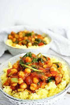 vegetarische kikkererwtenstoof met couscous