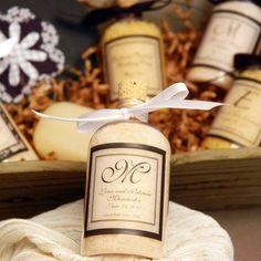 Personalized Wedding Bath Salt Favors