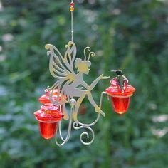 Perky-Pet - Fairy Dust Hummingbird Feeder w 3 Nectar Feeding Ports