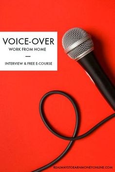 Work from home doing voice-overs - interview with Julie Eickhoff, professional voice-over artist. #voiceoverartist #workfromhome #workathome