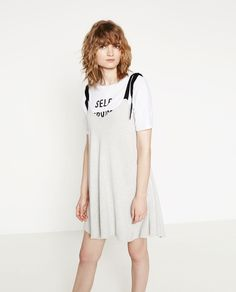 Image 1 of DRESS WITH LACE-UP STRAPS from Zara