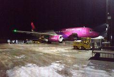 Wizzair A320 at a cold Gdansk; photo: Grzegorz Dymon