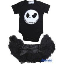 Newborn Baby Halloween Black Pettiskirt Nightmare Before Christmas Jack Romper in Clothing, Shoes & Accessories, Baby & Toddler Clothing, Girls' Clothing Christmas Onesie, Christmas Baby Shower, Baby Outfits, Kids Outfits, Nightmare Before Christmas, Halloween Bebes, Gothic Baby, Disney Babys, Baby Kids Clothes