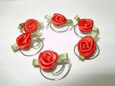 Darling Red Rose Hair Swirls Hair Twists Hair Spins by hairswirls1, $8.99