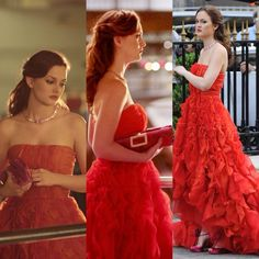Blair Waldorf in her red dress in the episode Double Identity Gossip girl