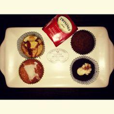 Cupcakes: de ron y canela, de mandarina, de manzana y caramelo y de cafe... una delicia