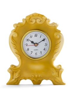 Classic mantle clock in yellow