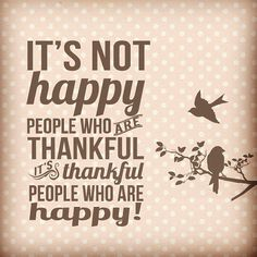Be #thankful, be happy! #thanksgiving #cansgiving