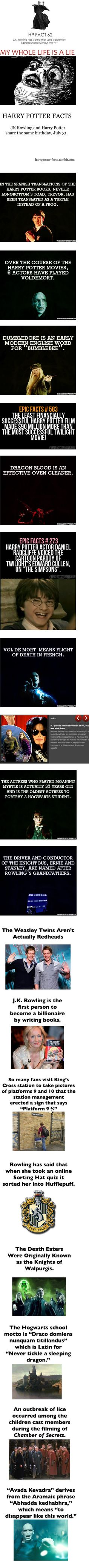 Cool Harry Potter facts you probably didn't know.