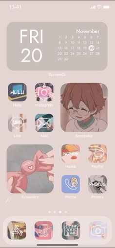Cute iOS14 Anime Wallpaper and App Icons