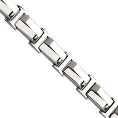 Stainless Steel Polished 8.25in Bracelet SRB516