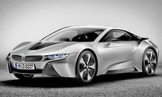 BMW's i8, based on the i8 concept, shown, will get the equivalent of 80 mpg. BMW said the concept could reach a top speed of 155 mph and accelerate from 0 to 60 mph in less than 5 seconds.