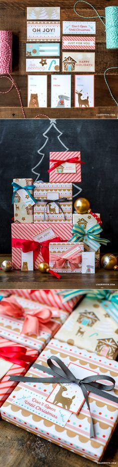 #giftlabels #printables www.LiaGriffith.com: