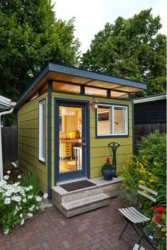 Backyard Studio Shed. Backyard Studio Shed 14 Inspirational Backyard Fices Studios and Guest Houses Shed Office, Backyard Office, Backyard Studio, Outdoor Office, Backyard Retreat, Backyard Storage Sheds, Backyard Sheds, Outdoor Sheds, Backyard Landscaping
