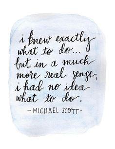 Michael Scott Quote Print Michael Scott Art The Office