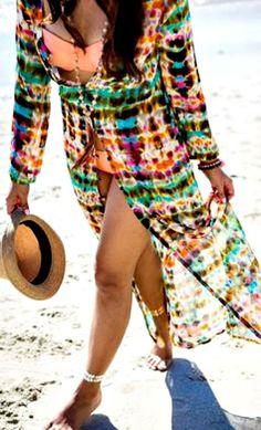 Colorful Maxi Chiffon Cardigan. Perfect for summer!