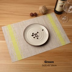 10 Must Have Kitchen Decoration - Japanese Style Placemats for Kitchen Table - Green Dining Table Placemats, Japanese Style, Dinner Table, Home Kitchens, Kitchen Decor, Decoration, Holiday Decor, Handmade, Grey