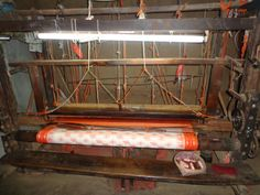 This is the loom in which sambalpuri saree weaves.