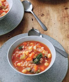 Vegetable Barley Soup...freeze for up to 3 months and reheat when you need a quick, healthy meal!