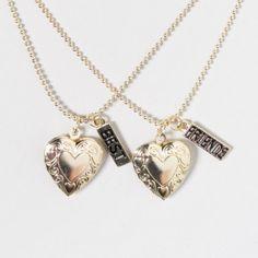 Heart Locket Best Friends Necklace Set