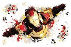 Sticker mural Iron Man