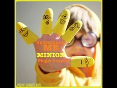 Despicable Me 'Minion' Finger Puppets with easy video tutorial!